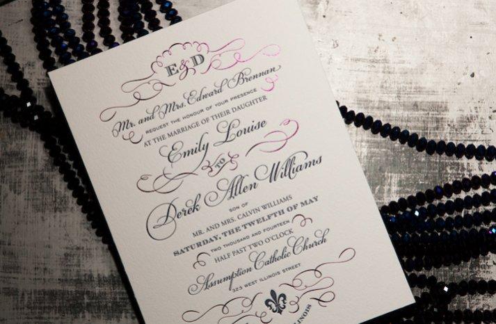 chic black white wedding invitations