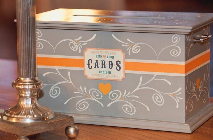 vintage wedding ideas reception card box guest book