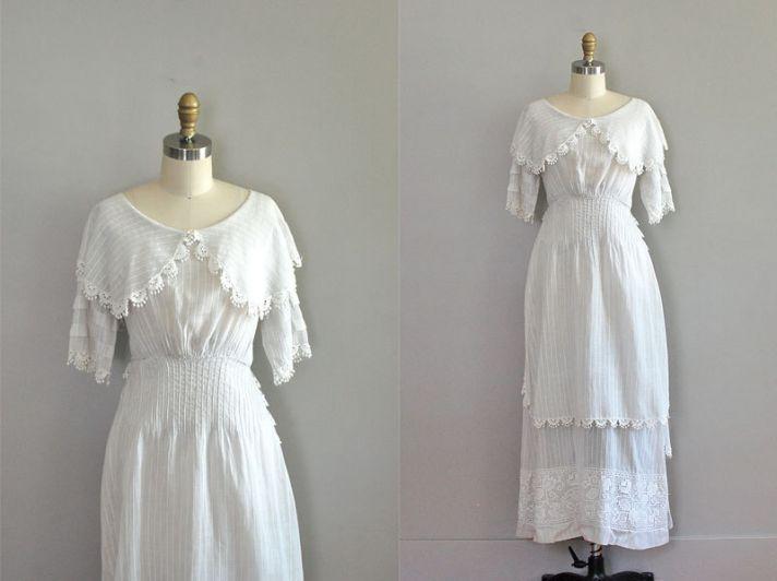 1910 edwardian wedding dress sleeves lace