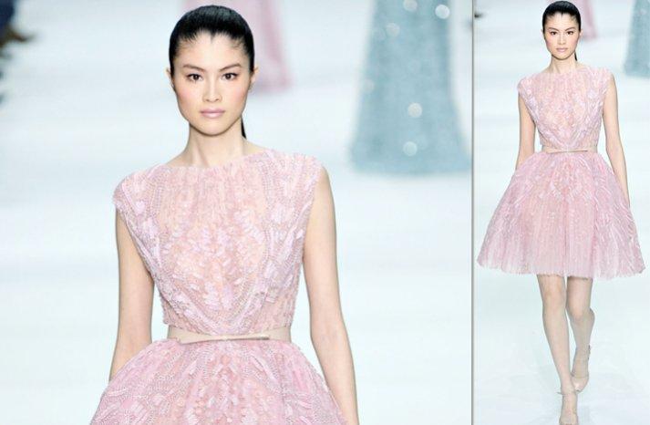 light pink elie saab wedding dress inspiration