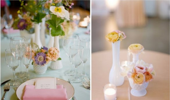 simple sweet wedding centerpieces multiples