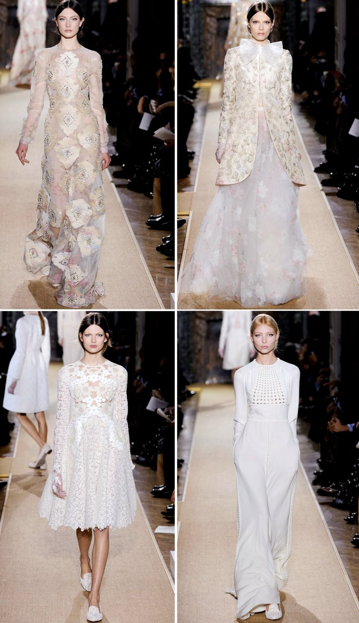 elegant valentino spring 2012 couture wedding dress inspiration trends bridal