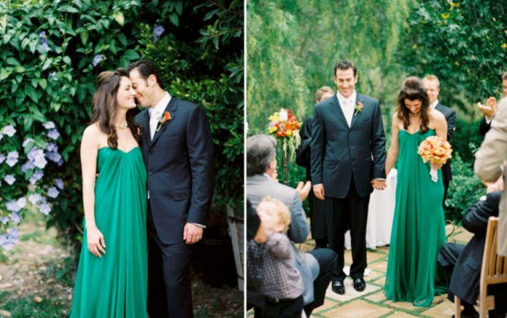 emerald green wedding dress 02
