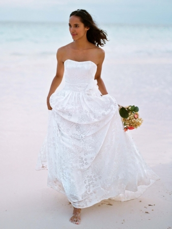 David 39 s bridal wedding dress style wg3358 onewed for Davids bridal beach wedding dresses
