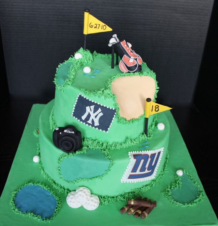 grooms wedding cake golf sports