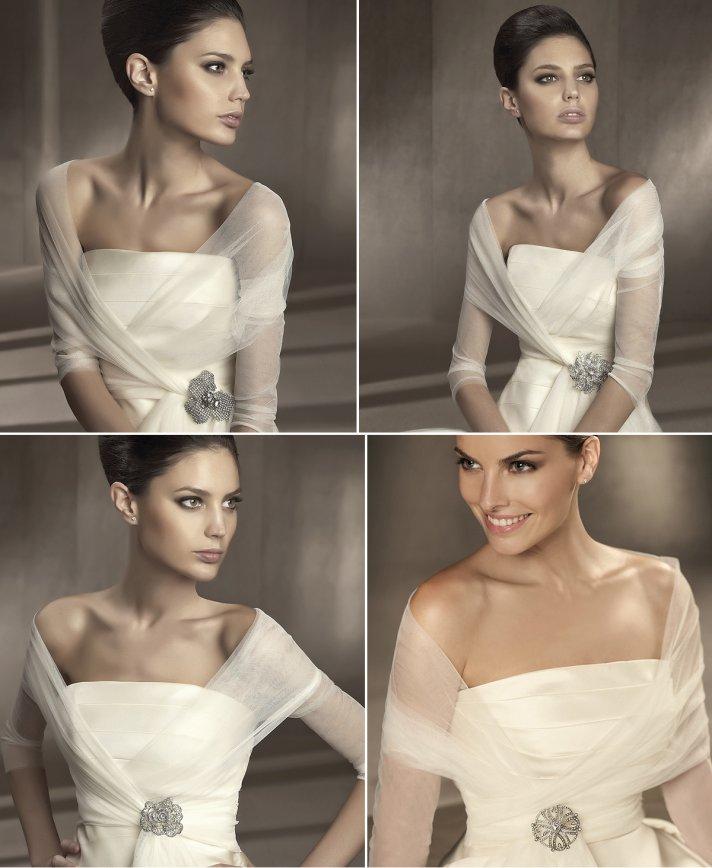 sheer bridal shawls 2012 wedding accessories pronovias