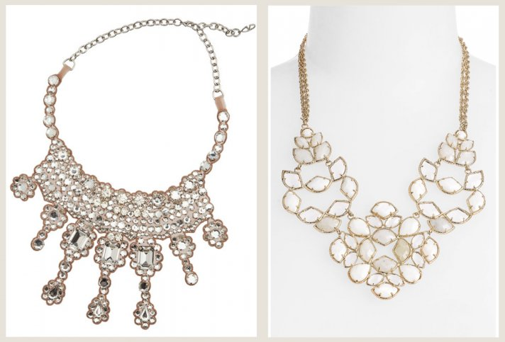 bridal jewelry splurge vs save bib necklace
