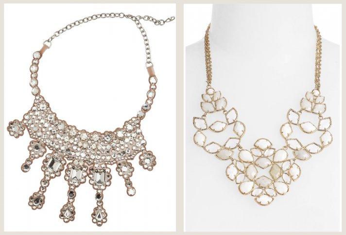 bridal jewelry splurge vs save bib necklace