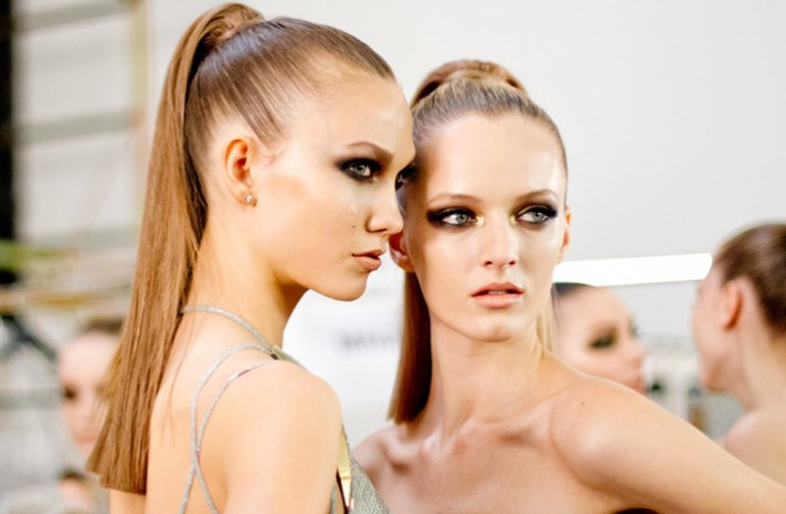 bridal beauty inspiration high ponytail dramatic eyes