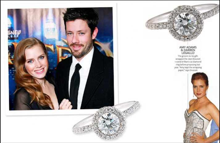 amy adams engagement ring celebrity weddings 2012