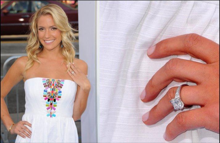 kristen cavallari engagement ring celebrity weddings 2012 jay cutler