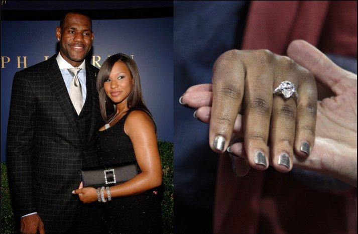 lebron james fiance engagement ring