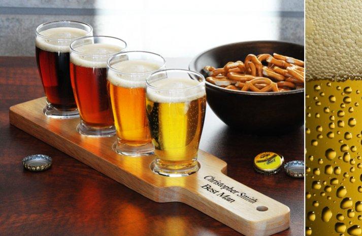 gifts for groomsmen beer tasting flight