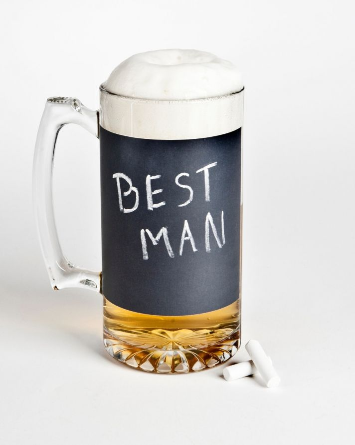 best man wedding gifts beer mug chalkboard