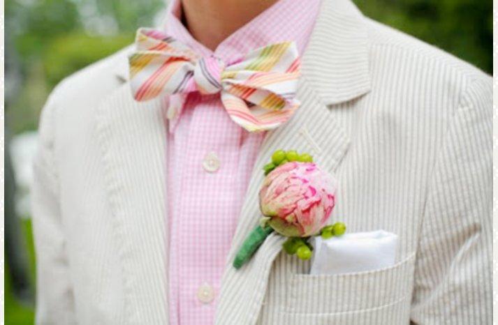 preppy groom spring summer wedding attire
