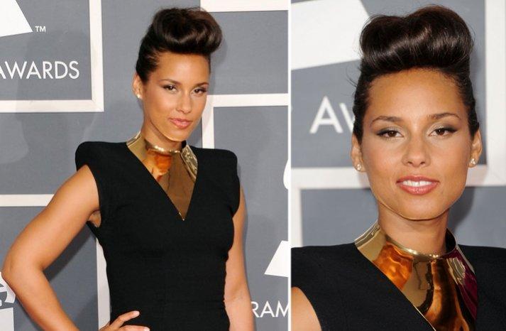 2012 grammys wedding hair makeup inspiration alicia keys