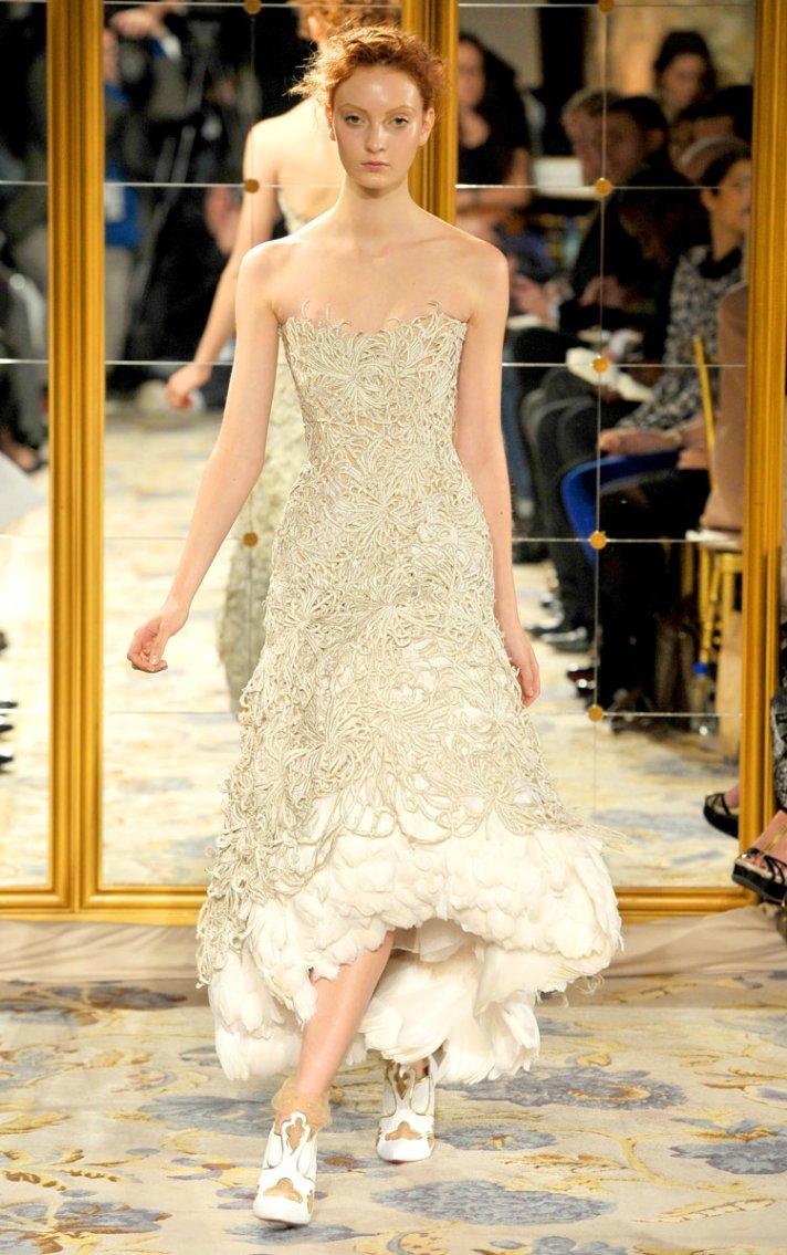 Bridal style inspiration marchesa does it again for Wedding dresses asymmetrical hemline