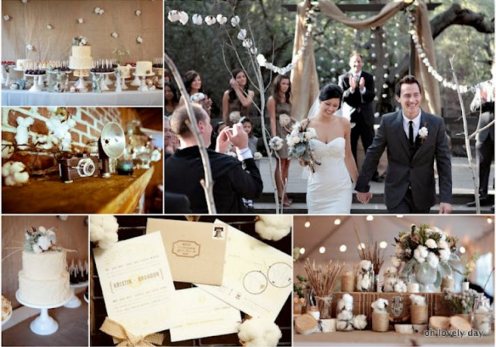 vintage wedding ideas cotton for wedding flowers