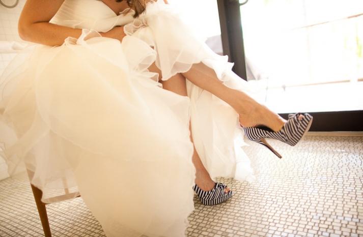 bold wedding shoes 2012 zebra