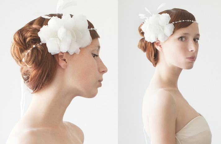 romantic wedding hair accessories tiara with feather flower  full carousel - Gelin Tac� | Gelin Ba�� Aksesuarlar� ~
