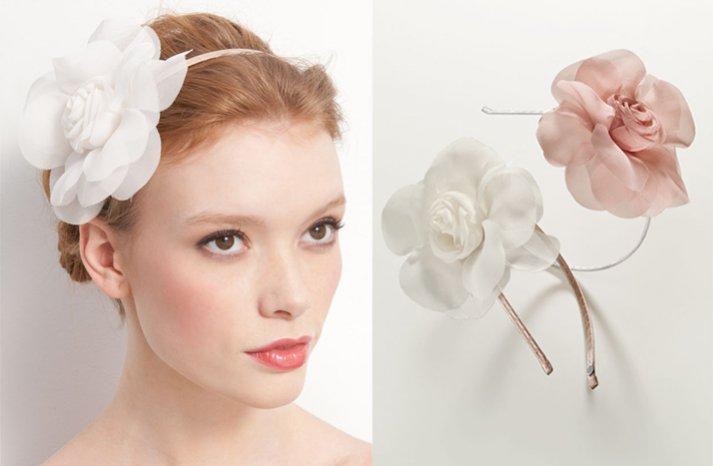 simple wedding headband flower adorned