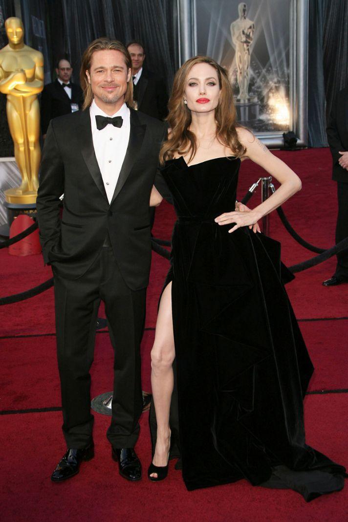 Brad Pitt and Angelina Jolie Oscars 2012
