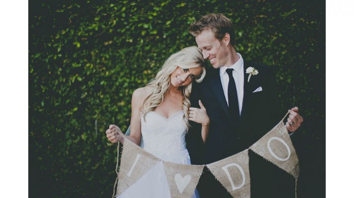 rustic chic weddings burlap wedding sign