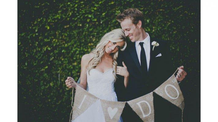 rustic chic weddings burlap wedding sign