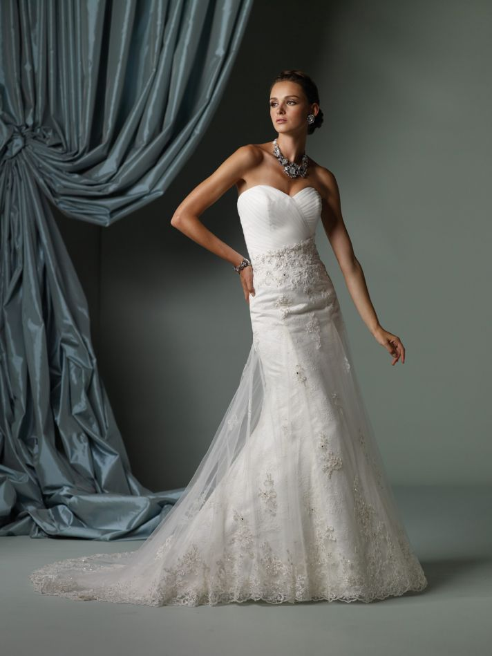 Top 15 wedding dresses of 2012 by mon cheri onewed for Mon cheri wedding dresses