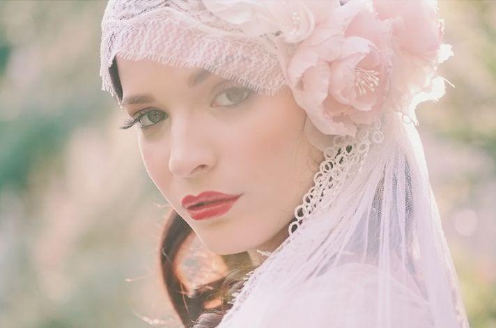 vintage inspired bridal cap
