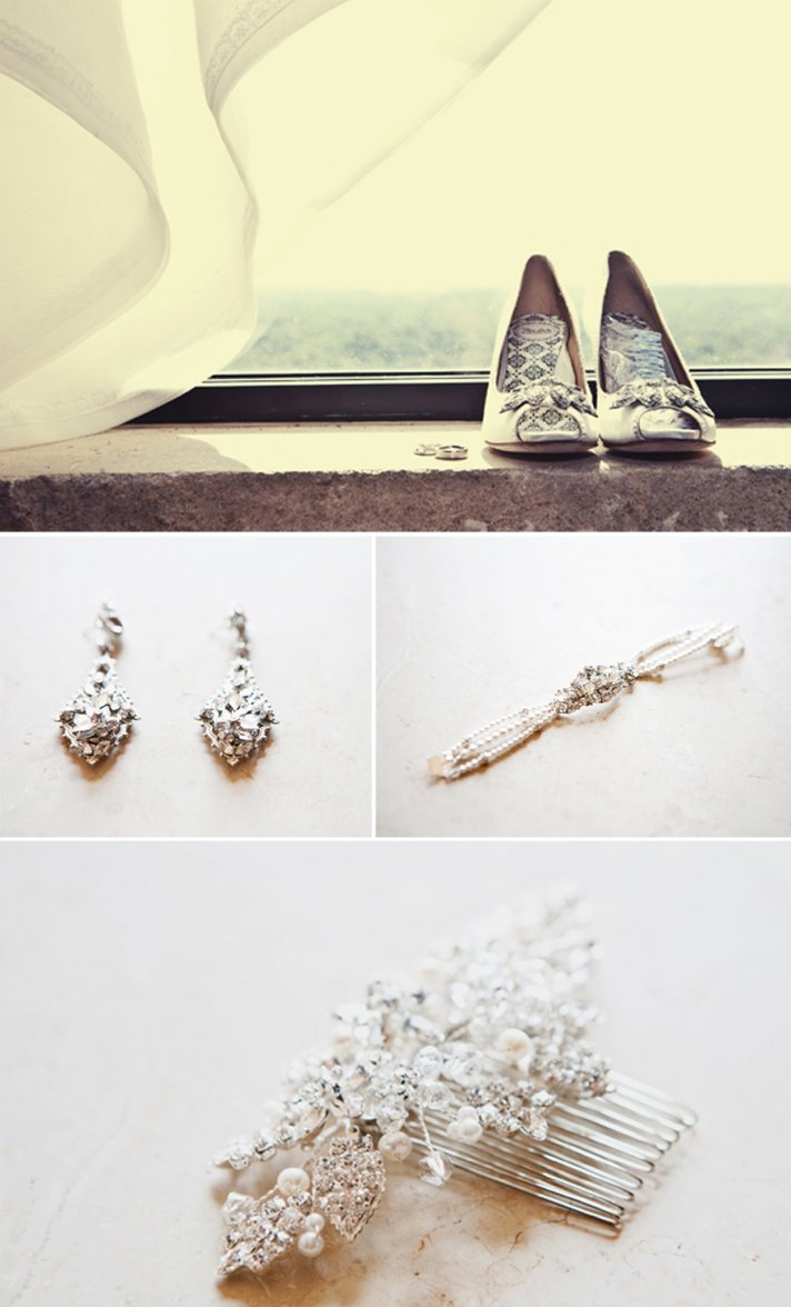 elegant real wedding bridal hair accessories wedding jewelry and shoes