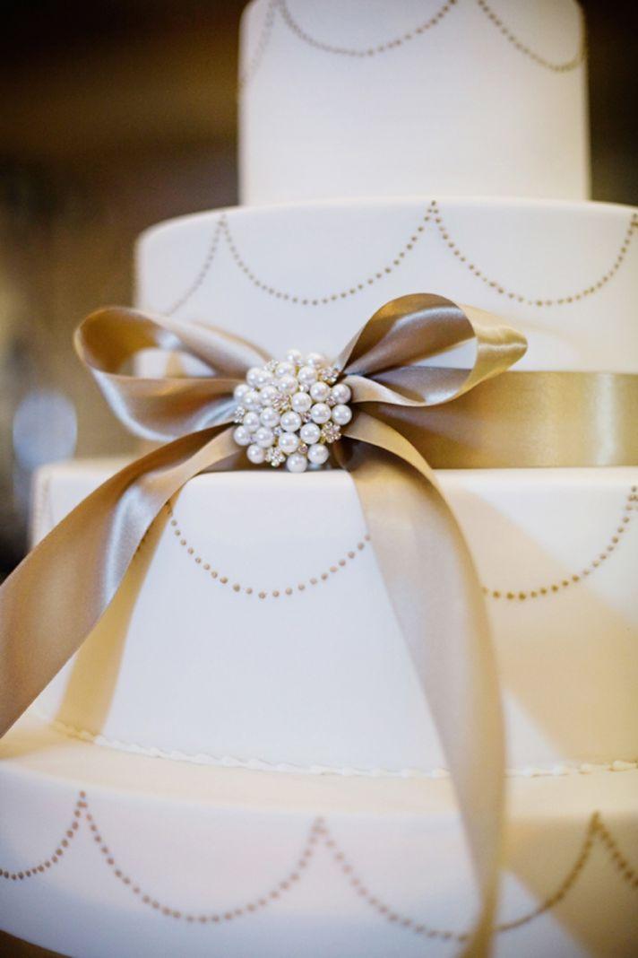 classic wedding cake elegant real wedding reception One Tree Photography