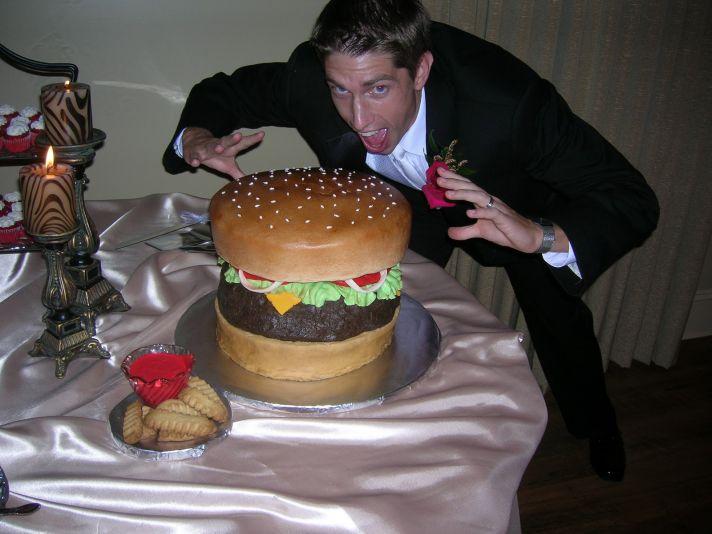 hamburger grooms cake
