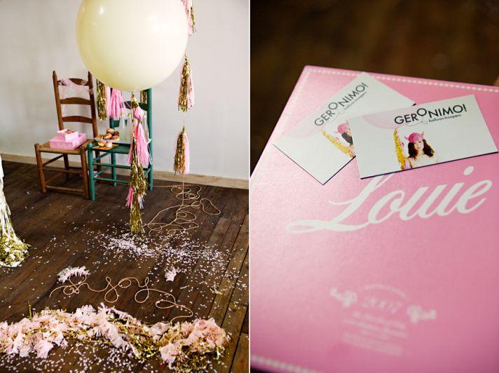 balloon wedding inspiration girly pink wedding invitations
