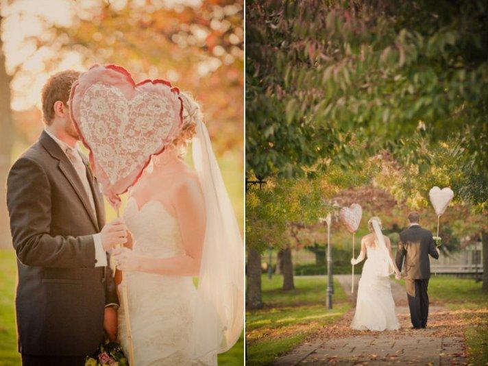 DIY wedding ideas heart shaped balloons