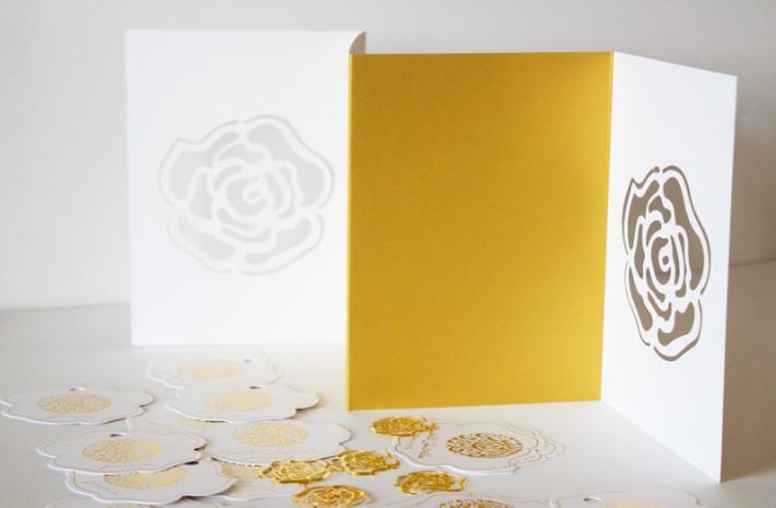 arabic weddings white gold letterpress wedding invitations 2