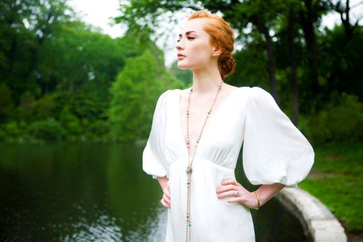2012 wedding dress deep v neck sleeves