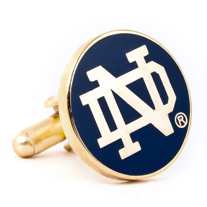 groomsmen gifts NCAA cufflinks notre dame