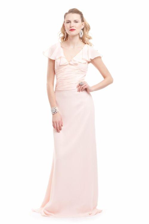 lavender bridesmaid dress by badgley mischka 2012 light pink vintage inspired