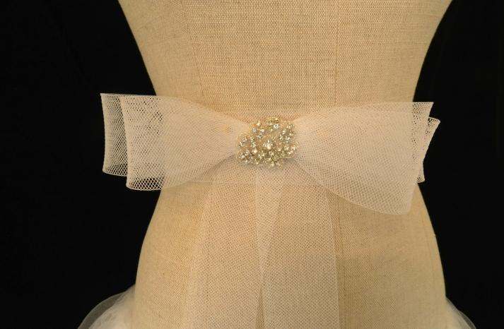 bridal sash tulle