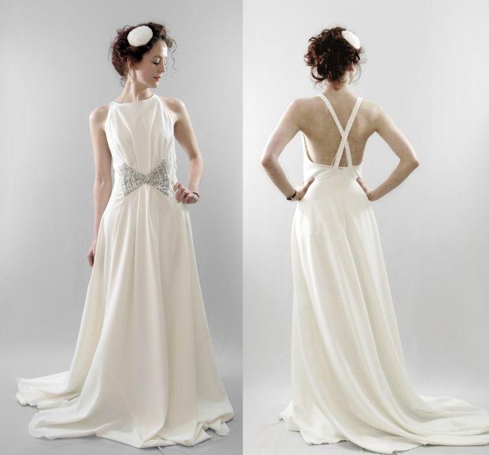 wool wedding dress 2012 bridal trends vintage inspired