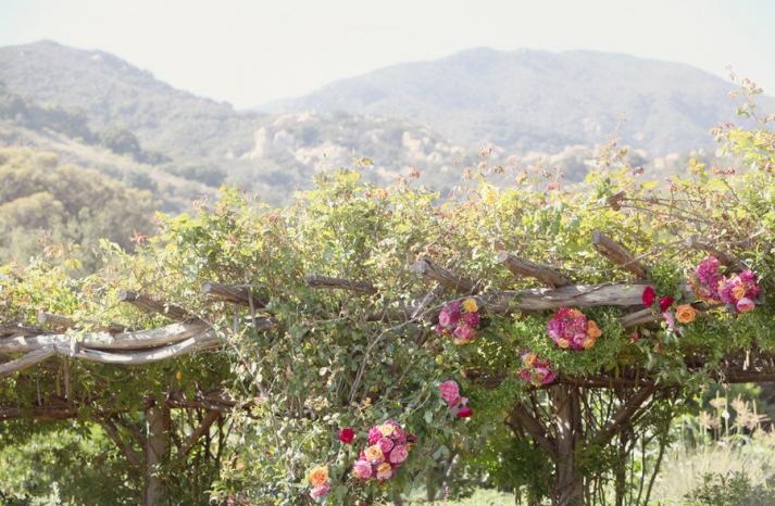 outdoor wedding romantic ceremony arbor