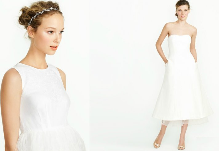 Simple Wedding Dresses Understated Bridal Gown Lwd With: J.Crew's Summer Wedding Collection