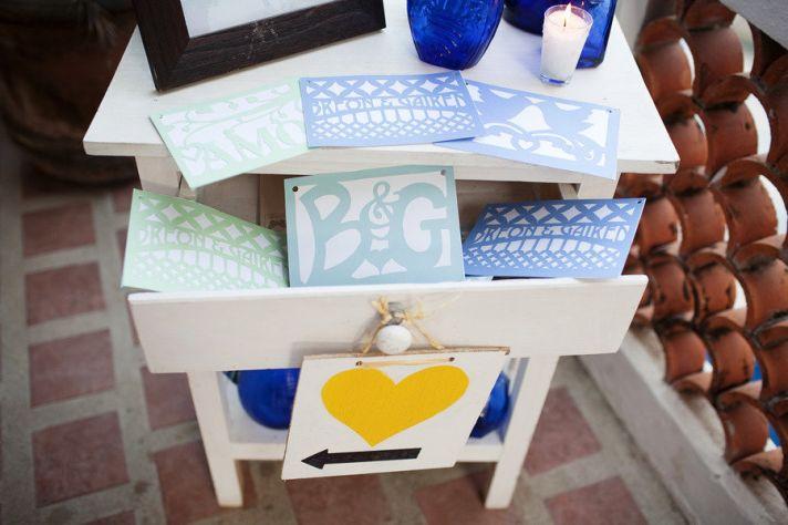 yellow blue seafoam wedding inspiration