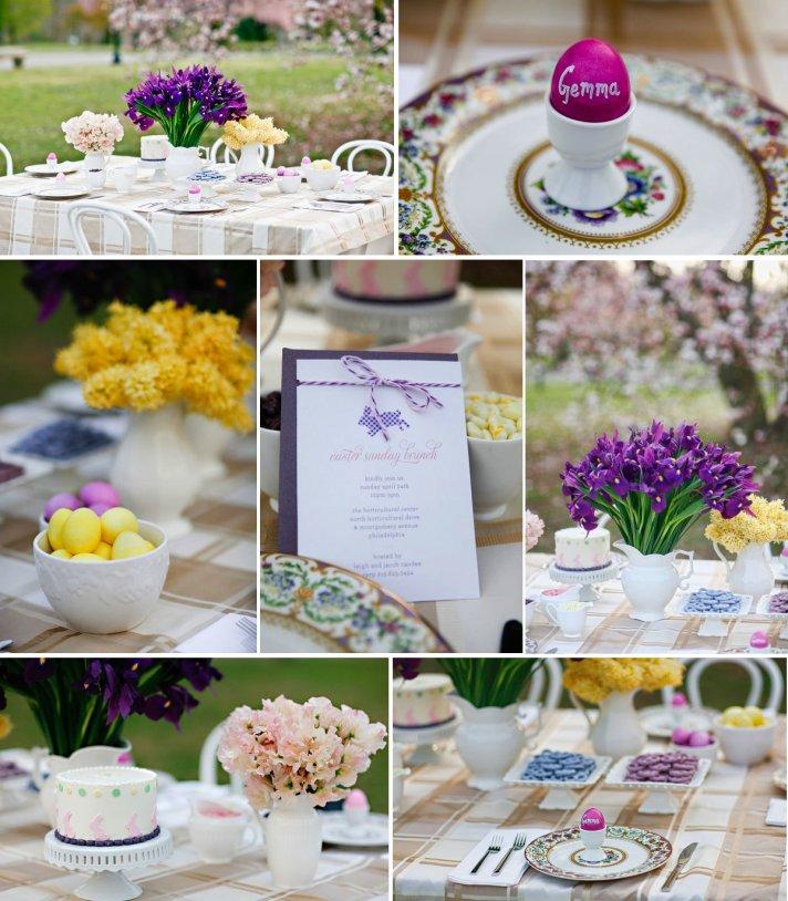 purple yellow easter wedding inspiration outdoor wedding