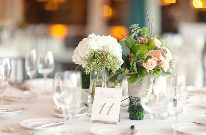 elegant spring wedding banquet hall wedding reception venue romantic centerpieces 1
