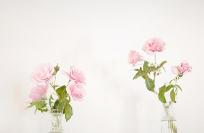 light pink wedding flowers centerpieces for spring wedding