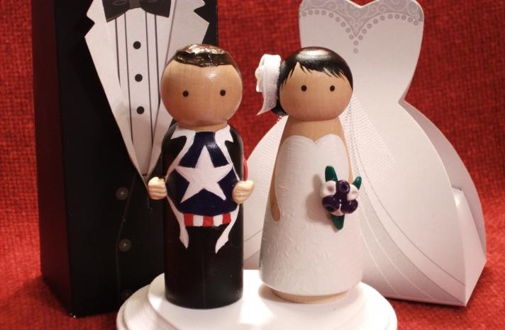 adorable wedding cake toppers handmade wedding Etsy superhero groom