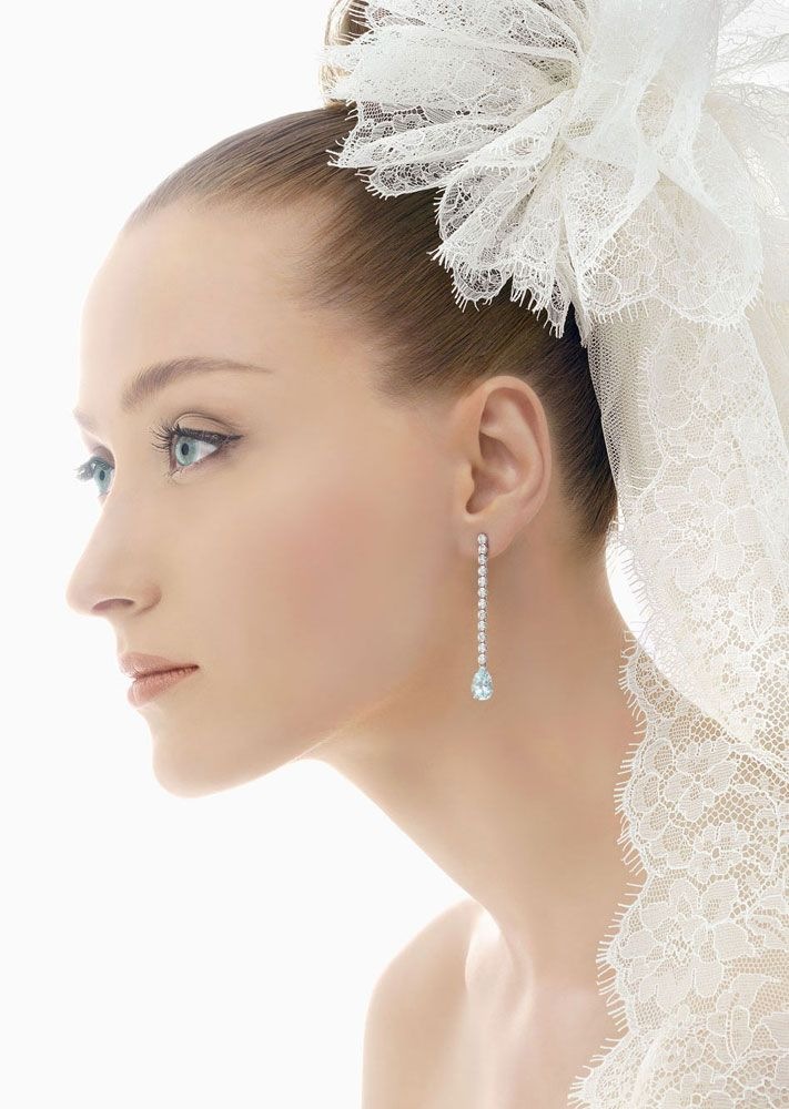 romantic bridal veils by rosa clara lace pouf with train