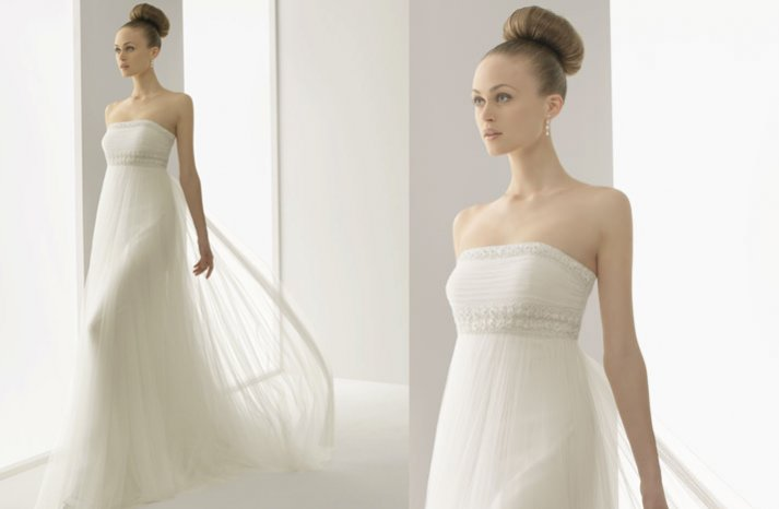 romantic lace wedding dress 2012 bridal gowns soft by rosa clara strapless sheer draping embellished bodice